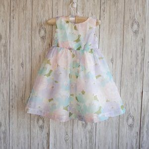 Gymboree Floral Easter Sleeveless Dress Size 3T